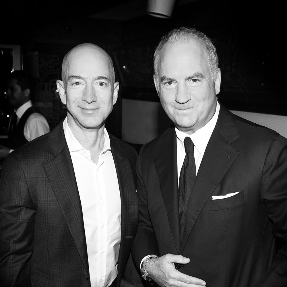 Charles Finch - Oscars Dinner photo of Charles Finch and Jeff Bezos